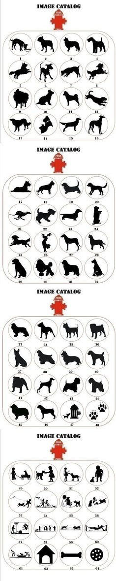Dog Silhouette Prints.