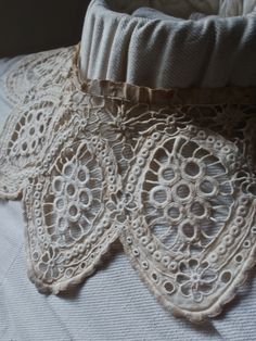 antique tatting lace collar