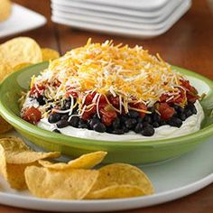 Layered Black Bean Dip Recipe from our friends at Philadelphia Cream Cheese