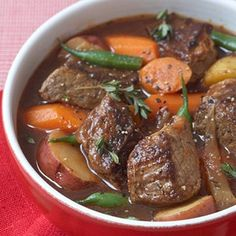 Healthy Beef stew.... I am a crock pot nerd, so this is perfection! 240 calories per serving