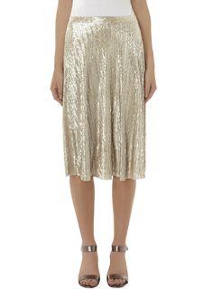 Photo 2 of Gold foil Midi Skirt