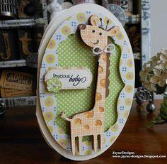 Giraffe baby card using Create a Critter and Art Philosophy JayneDesigns