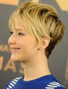 Jennifer+Lawrence+Short+Hair | Pixie Haircuts 2014 Jennifer Lawrence Blonde Ombre Short Hair