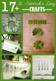 17+ St. Patricks Day Craft Ideas on { lilluna.com }