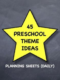 A Year's Worth of Toddler / Preschool Theme Ideas - Planning Sheets