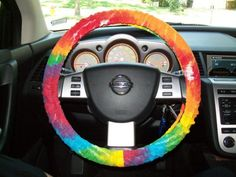 Steering wheel cover.