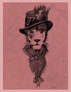 dandy lion ilustration