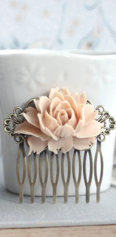 Beautiful rose hair comb