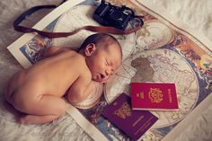 London newborn photographer portfolio travel theme map