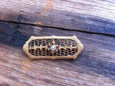 antique 1910 mesh brooch / 1901s jewelry / by JohannaVintage, $18.00