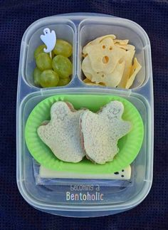 Super fun ghost #Easylunchboxes lunch!