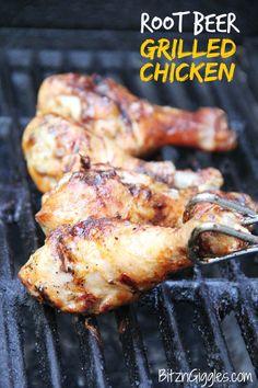 Root Beer Grilled Chicken on MyRecipeMagic.com