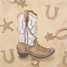 Boots Hand Painted Canvas