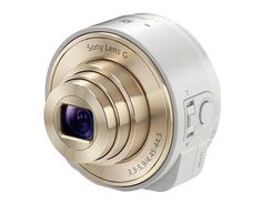 Sony To Release The Smartshot QX 'Smart Lens' In A White/Champagne Gold Color Option product, 花費減少但功能不減soni smart, stuff, camera lens, soni qx10, iphone camera, smart shot, smartshot