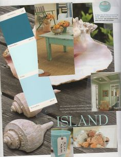sea inspired decor and colors