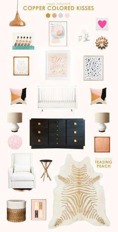 copper baby room ideas