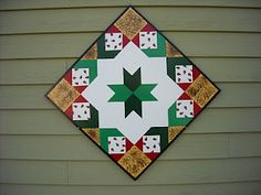 Neat barn quilt by Dave Snow of Barn Quilts by Dave..