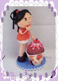 Boneca Fofuxa Cup cake em EVA