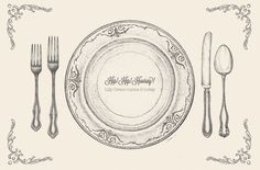 Vintage Paper Placemats with Festive Text