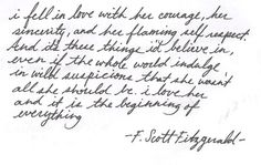 The beginning of everything fell, everyth, quotes, letter, f scott fitzgerald, inspir, word, beauti, live