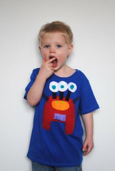 Boy, Oh Boy, Oh Boy Crafts: Interactive Monster Shirt