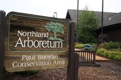 Northland Arboretum: Paul Bunyan Conservation Area, P.O. Box 375, NW 7th St. behind the Westgate Mall, Brainerd, MN 56401 (218)829-8770.        Traversed by hiking, cross-country skiing and snowmobile trails, the habitats of this arboretum include jack pine savannah, marsh and prairie.