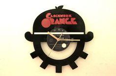 Relojes con discos de vinilo Naranja mecánica