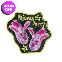 Pajama Party Fun Patch! Only $.69! See all of our Girl Scout Fun Patches on PatchFun.com