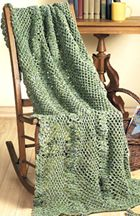 *Free Crochet Pattern:  JewelBox Throw using Caron Simply Soft