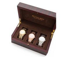 Michael Kors Runway Chronograph Watch Collector Box Set $795 ooooooooohhhh