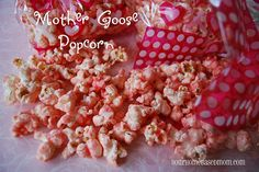 Mother Goose sweet popcorn with color