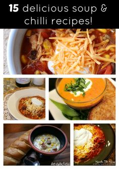 Check out this awesome roundup for 15 delicious soup and chili recipes! #souprecipes #fallrecipes.
