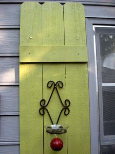 DIY rustic shutters from fence slats
