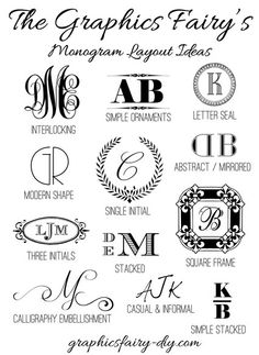 Tips & Tricks for creating your own Monograms