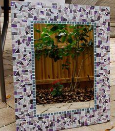 Purple Mosaic Mirror Custom by GreenStreetMosaics on Etsy, $175.00