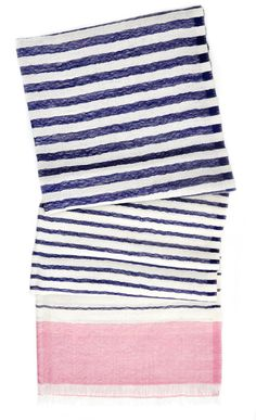 Color Stripe Wool Scarf