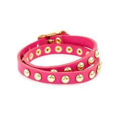 Double Wrap Bracelet with Studs