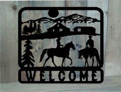 Farm ranch metal cut out signs on pinterest ranch for Plaque nom de maison