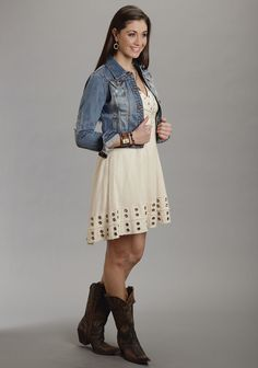Whipped Grommet ~~ Darling Batiste Dress With Lots Of Detail http://www.westernshirts.com/womens/western-dresses/whipped-grommet