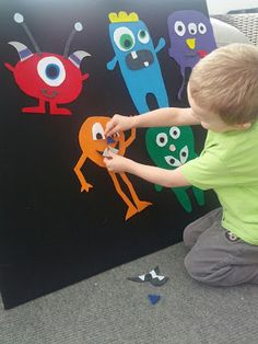 Mix and Match Monsters Felt Board Ideas. I love this one :) So cute!