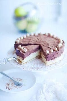 Chocolate Mousse & White Cream Pear Cake