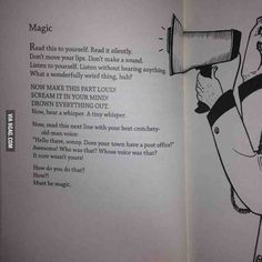 Found this in one of my little sisters books. Magic.