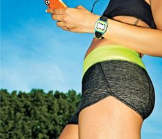 Hot Workout Shorts: Totally Waisted. Under Armour Get Set Go Printed Shorts: No spillover here with a thick, flat waistband -- so go tee-free. #SelfMagazine