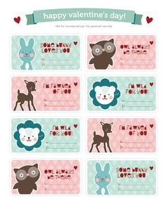 Free download valentines day labels..