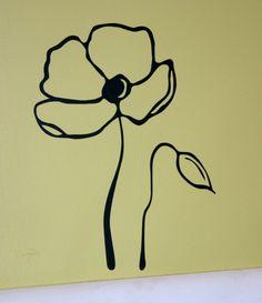 simple poppy tattoo. I like the simplicity