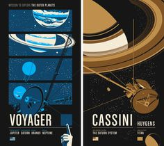 Voyager and Cassini