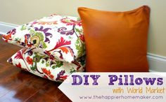 DIY Pillows from Napkins and Curtains | The Happier Homemaker