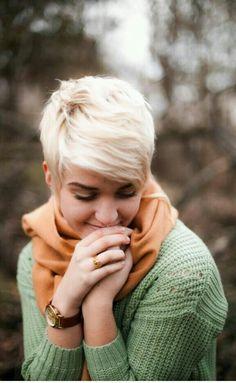 Love this so much  #bob #pixie #blonde #bleached #hair #haircut #hairstyle