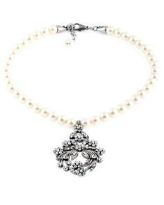"Pearl ""Belle"" necklace from Disney Fairy Tale Weddings by Alfred Angelo (Style: DN724)."
