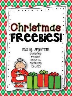 Christmas FREEBIES! {Math and ELA}